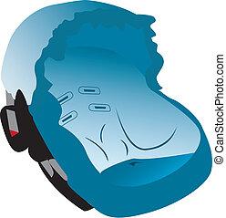 автомобиль, иллюстрация, сиденье