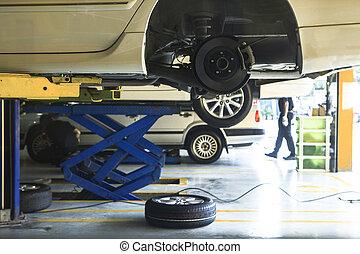 автомобиль, колесо, подвеска, and, тормоз, система,...