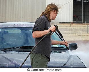 автомобиль, мыть