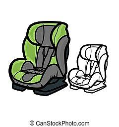 автомобиль, сиденье