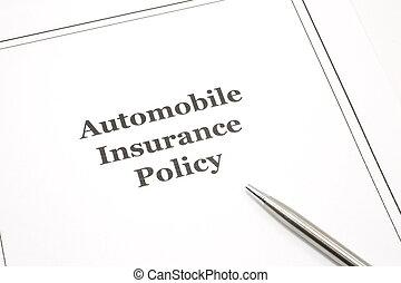 автомобиль, страхование, политика, with, ручка