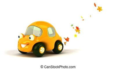 автомобиль, цветок, мощность