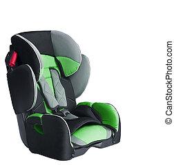 автомобиль, child's, isolated, сиденье