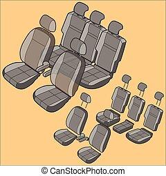 автомобиль, isolated, сиденье