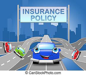 авто, иллюстрация, знак, policies, автомобиль, политика, страхование, 3d