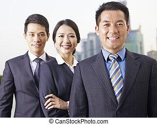 азиатский, бизнес, команда
