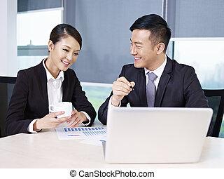 азиатский, бизнес, люди