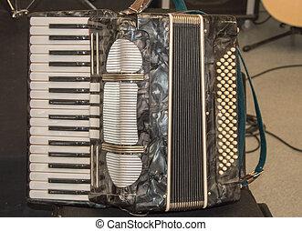 аккордеон, музыкальный, инструмент, нет, селективный, один, ...