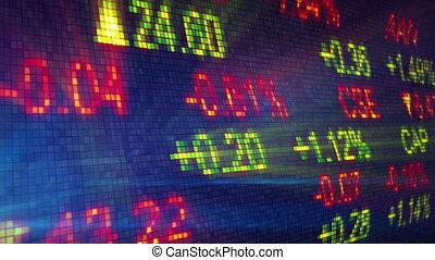 акции, обмен, данные, доска, петля