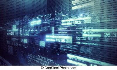 акции, рынок, tickers, гладкий; плавный, кастрюля