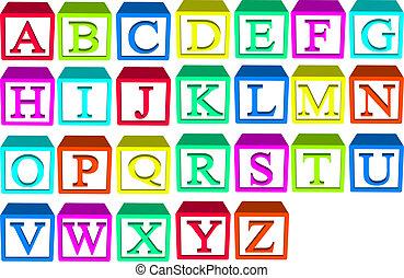 алфавит, blocks