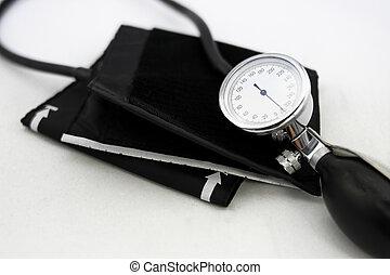 аналоговый, кровь, насос, руководство, метр, давление, традиционный, воздух