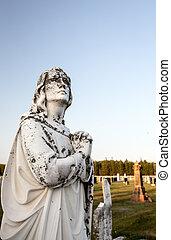 ангел, в, , кладбище