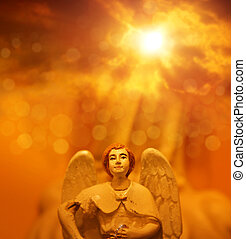 ангел, в, небо