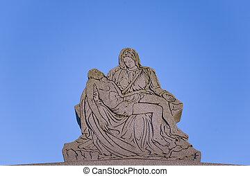 ангел, держа, иисус