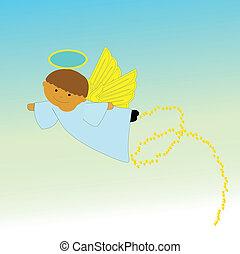 ангел, летающий