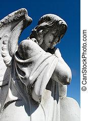 ангел, надгробная плита, статуя