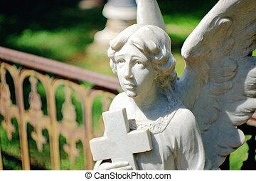 ангел, надгробная плита