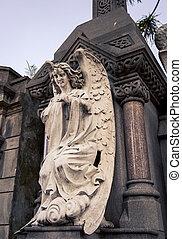 ангел, на, , могила