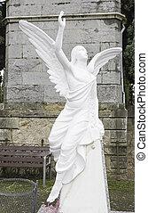 ангел, на, надгробная плита