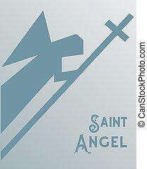 ангел, оригами, значок