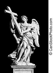 ангел, with, , пересекать