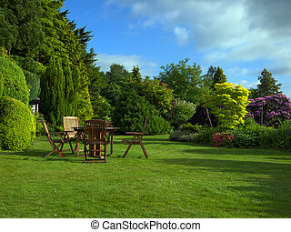 английский, сад