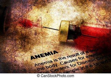 анемия, концепция, на, гранж, задний план
