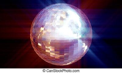анимация, 3d, мяч, дискотека