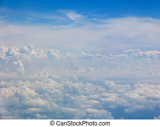 антенна, посмотреть, clouds, поле