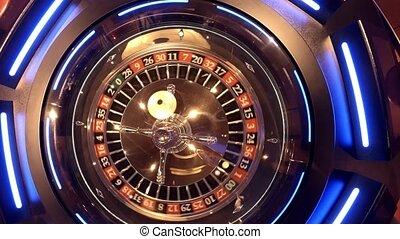 антенна, посмотреть, of, рулетка, колесо, прядение, под,...