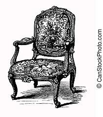 античный, кресло