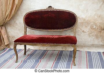 античный, скамейка