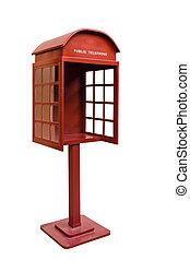 античный, телефон, правильно, стенд, красный