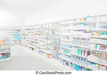 аптека, интерьер