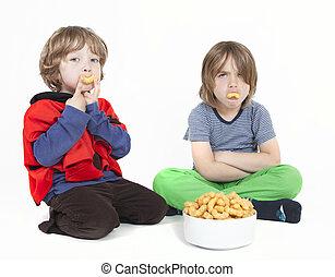 арахис, boys, два, puffs