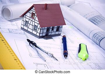 архитектура, инструменты, на, blueprints