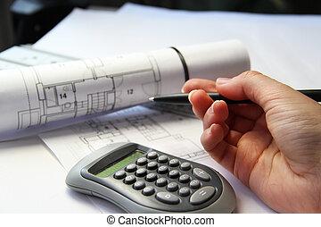 архитектура, на, , таблица, and, инструменты