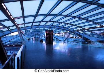 архитектура, of, современное, железнодорожная станция