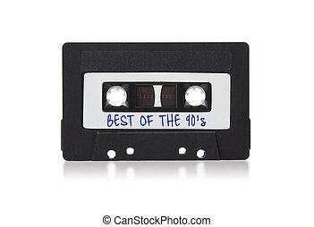 аудио, кассета, марочный, isolated, белый, задний план, лента