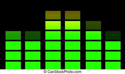аудио, equaliser, анимация, loopable
