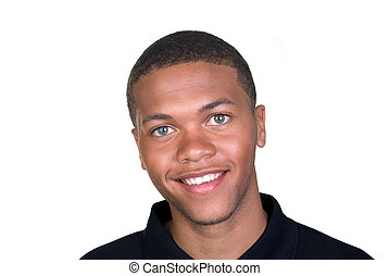 африканец, американская, улыбается