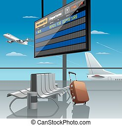аэропорт, вылет из