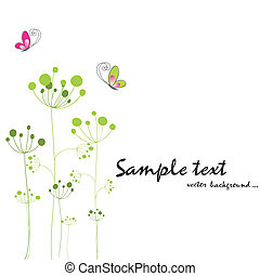 бабочка, весна, красочный, флора