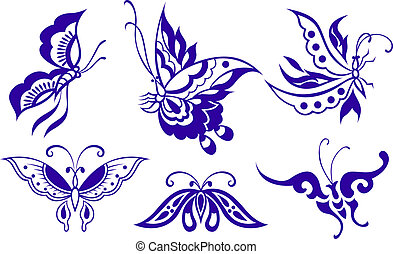 бабочка, иллюстрация