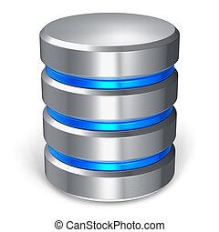 база данных, диск, жесткий, значок