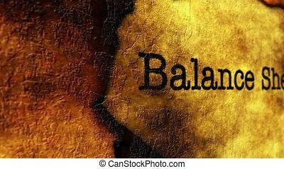баланс, концепция, гранж, лист