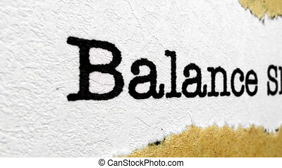 баланс, лист