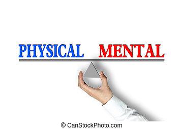 баланс, умственный, физическая
