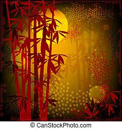 бамбук, лес
